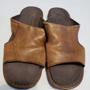 Rockport leather slip on sandals